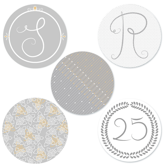 designs for a silver wedding submitted on minted