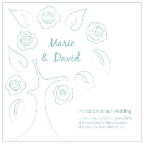wedding card growing love