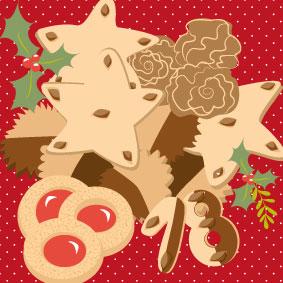 Plätzchen, Kekse, Illustration, advent, christmas, winter