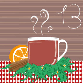 Glühwein, Weihnachtsmarkt, Weihnachten, christmas, winter, illustration