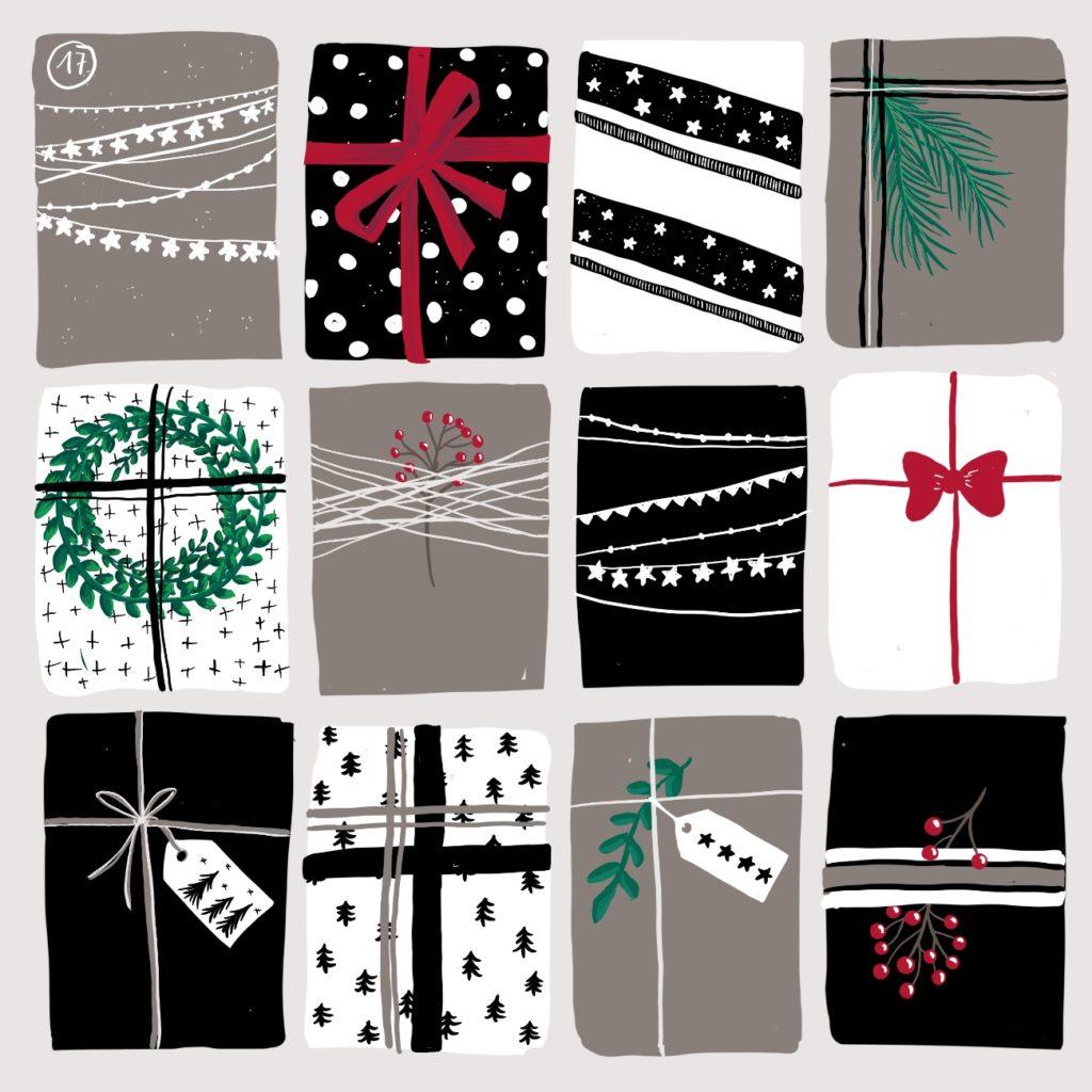Verena Muenstermann Weihnachtlich illustration Geschenke