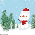 Verena Muenstermann Weihnachtlich illustration schneemann