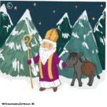 verena muenstermann illustration Nikolaus mit Esel