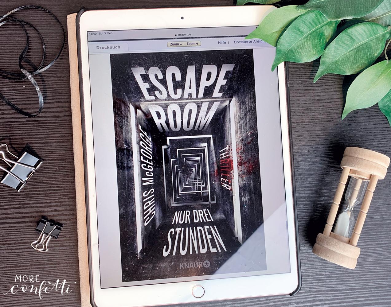 escape room - nur 3 Stunden - Rezension- moreconfetti.de