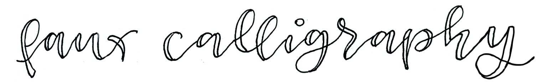 faux calligraphie Beispiel