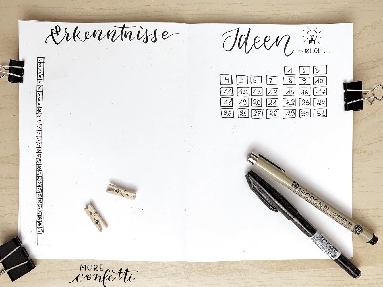 Bullet Journal Setup - März - moreconfetti.de