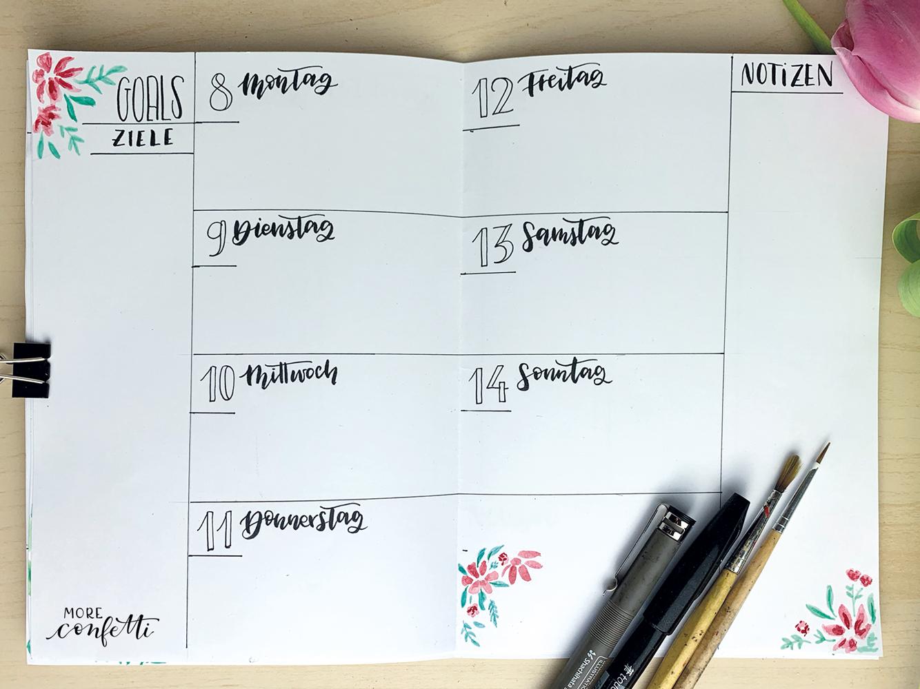 Bullet Journal Setup - April - moreconfetti.de