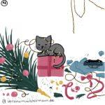 Verena Muenstermann Weihnachtlich illustration Katze geschenke Tannenbaum