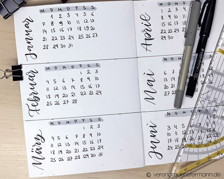 Planen im Bullet Journal